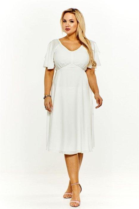caf7e8ffd5 Koktajlowa sukienka Kremowy