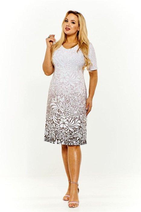 f0dfa48cf0 Cieniowana sukienka we wzory