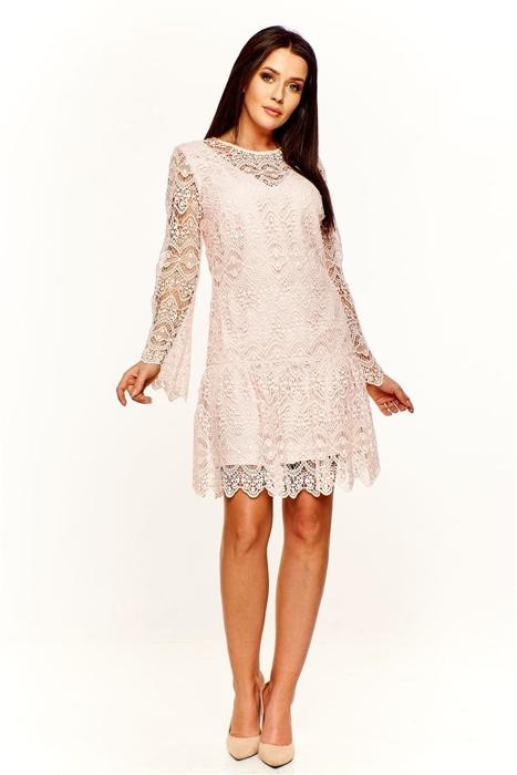 5c5915f065 Ażurowa sukienka Różowy