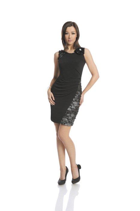 923d83be15 Dress FSU230 BLACK SILVER Sukienka FSU230 CZARNY SREBRNY