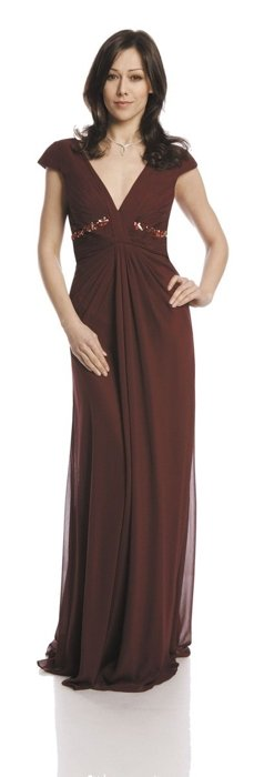 Dress FSU729 BURGUNDY