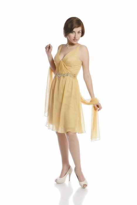 FSU704 Dress GOLD