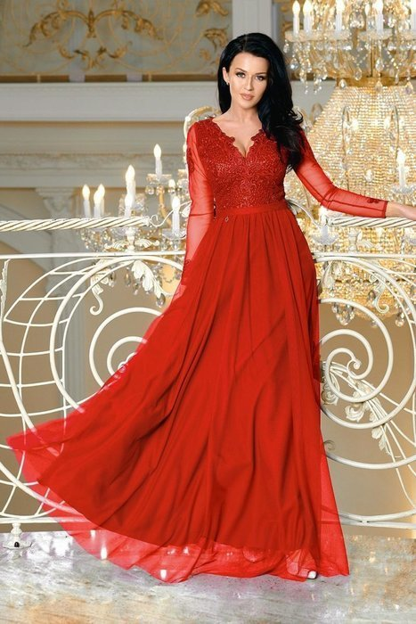 34e5a2e9c8 sukienka Czerwony