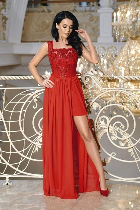 6604e76c28 sukienka Czerwony