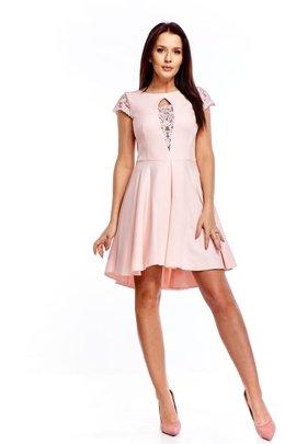 a5573af69d Koktajlowa sukienka z koronkowymi wstawkami
