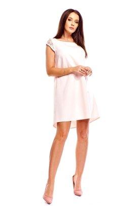 0bdcdd4d5d Pudełkowa sukienka z koronką