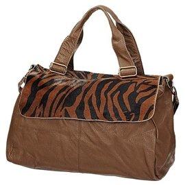 efacbdf5d64d9 Skórzana torba damska w kolorze brązowym INVUU LONDON 15B8011
