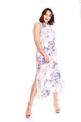2a668c7d19 Wzorzysta sukienka maxi