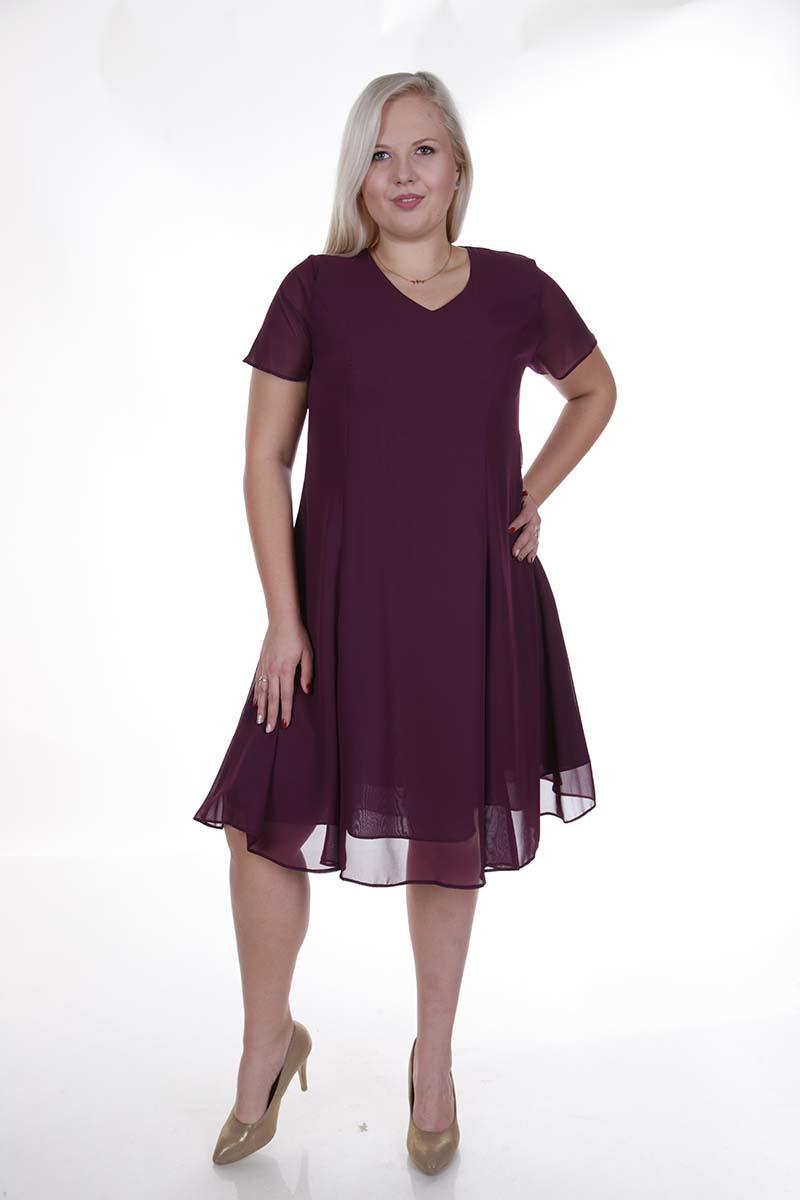 Sukienka FSU877 BAKŁAŻAN