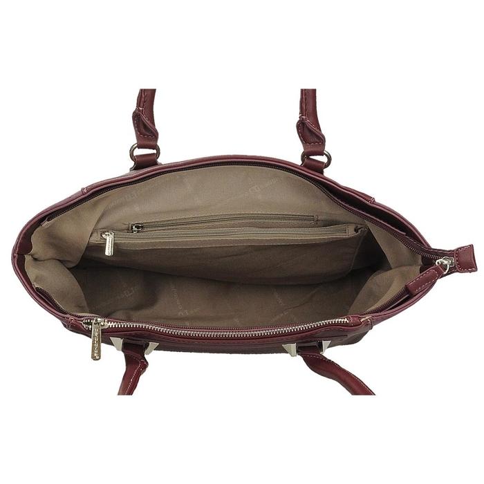 3883e5b4608fa Bordowa klasyczna torba damska na ramię DAVID JONES CM4048