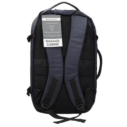 4c22870189085 Plecak torba w kolorze granatowym jako bagaż podręczny do samolotu DAVID  JONES PC-029