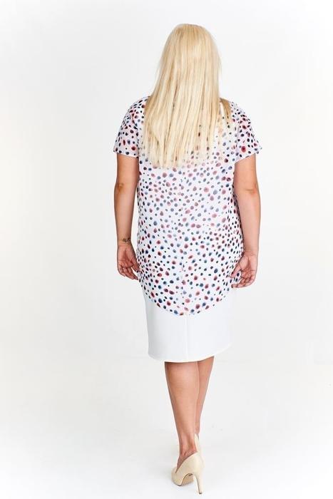 ac736c7b36 Sukienka z wzorzystą bluzką