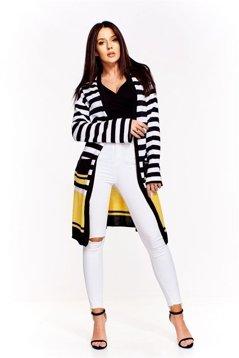 Długi sweter w paski