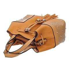 6ea9f3d6363ac Pomarańczowa torebka damska typu worek z wyjmowaną kosmetyczką VERYRIO GE  3011