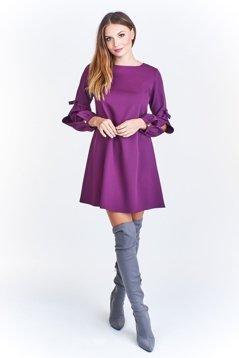 3882d107e1 Wizytowa sukienka w kształcie litery A Fioletowy